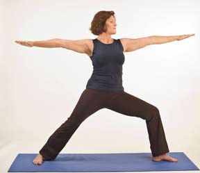"""Local yoga instructor poses for new """"Boomer Yoga""""  book"""